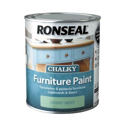 Ronseal Chalky Furniture Paint - Dusty Mint 750ml